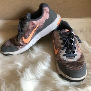 Womens' Nike Coral/Gray Running Shoes Size 8.5